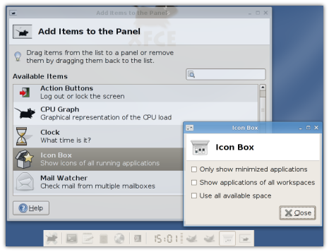 Panel Icon Box Plugin