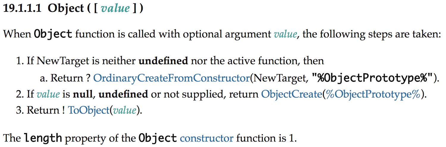 Object constructor